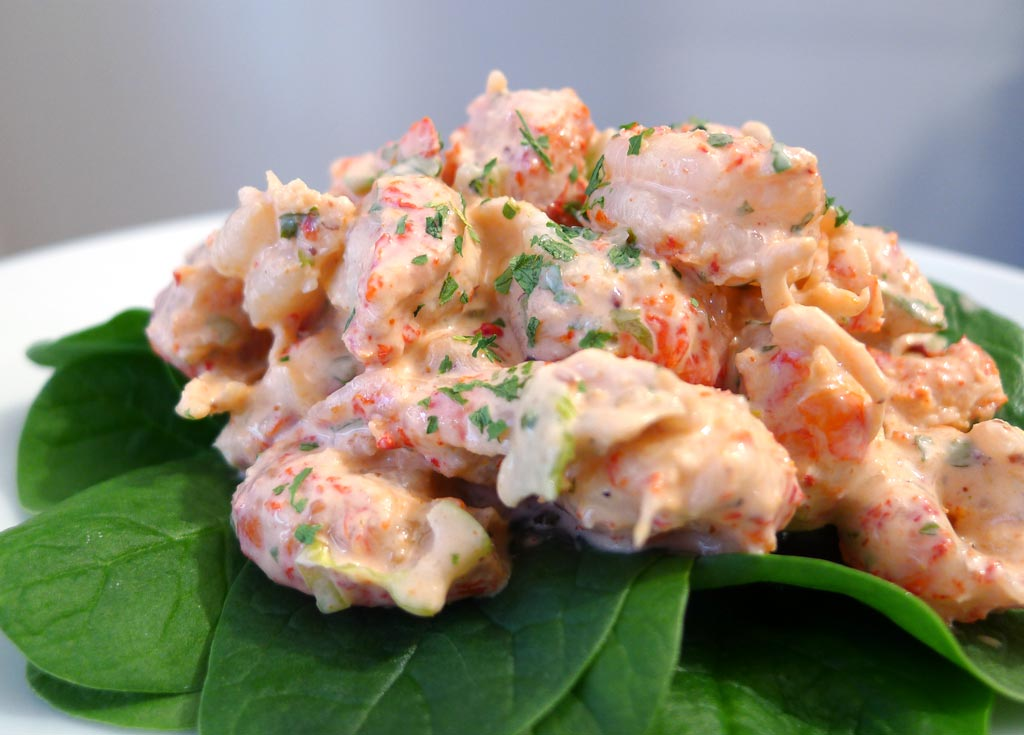 Crawfish Salad with a Southern Remoulade Sauce | ContraryCook.com
