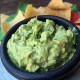 Guacamole, Salsa Verde Cruda w/ Organic Blue Chips | ContraryCook.com