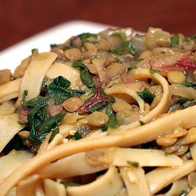 Lebanese-Style Lentils and Pasta | ContraryCook.com