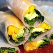 Mango Spring Rolls with Avacodo and Almond Sauce | ContraryCook.com